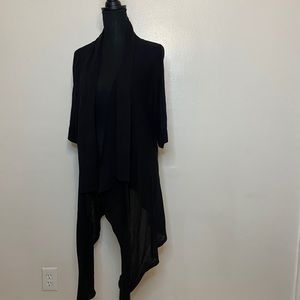 Michael Kors 3X Black Open Cardigan Sweater